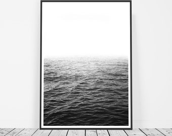 Black and White Photography, Ocean Print, Waves Photo Print, Ocean Wall Art, Large Wall Art, Water Art, Wave Wall Art, Sea Wall Art