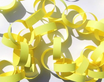 Paper Garland yellow Garland paper Garland wedding table decorations decor table even country yellow