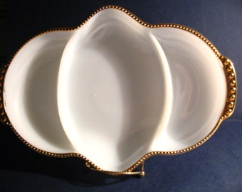 Fire King Oven Ware Relish Tray Plate