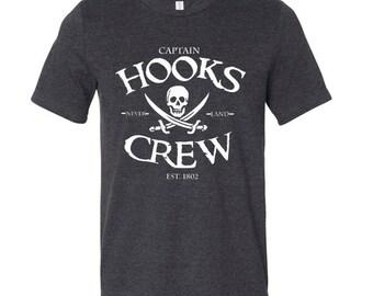 Disney Shirts Captain Hooks Crew Shirt Peter Pan Shirt Disney pirate shirt Disneyland Shirt Disney Cruise Shirt  Disney World Shirt