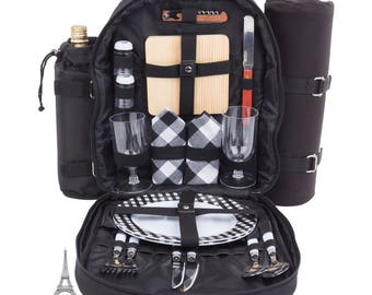 Two Person Picnic Backpack/Basket-Blackberry