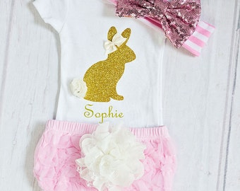 Newborn Easter Outfit, Infant Easter Outfit, My First Easter Outfit, Newborn Easter Bodysuit, Toddler Easter Bodysuit, Pink Easter Outfit
