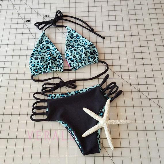 VERALU Here Kitty Kitty reversible bikini set