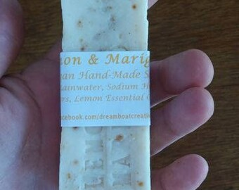 Vegan Olive Oil Soap with Lemon & Marigold