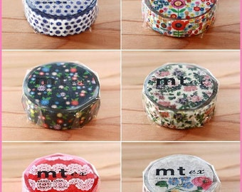 6 colors masking tape washi made in Japan