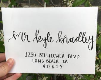 Hand Lettering Wedding Invitation Envelopes