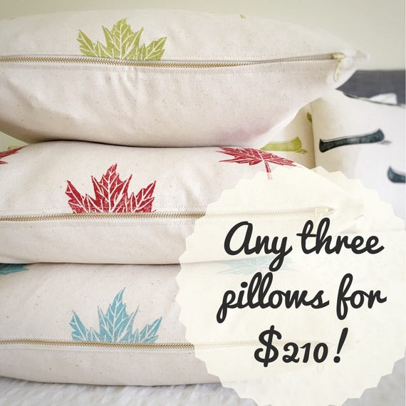 SAVE on pillow sets!  Mix and match any three pillows from the shop!