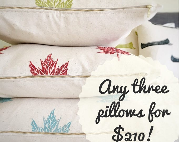 SAVE! Mix and match any three pillow covers