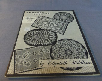 Elizabeth Hiddleson Crochet Originals, Vol. 12, Doilies, Home Decor, 1964