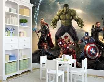 The Avengers Full Wall Mural - Self-Adhesive and Removable For Easy DIY Install