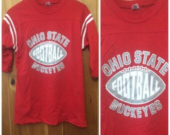 1980s Ohio State University Football shirt Vintage Mens Small