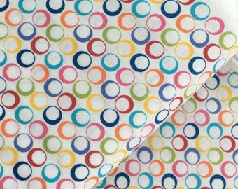 Multicolor Rings Cotton Fabric from the Basic Brights Collection by Windham Fabrics