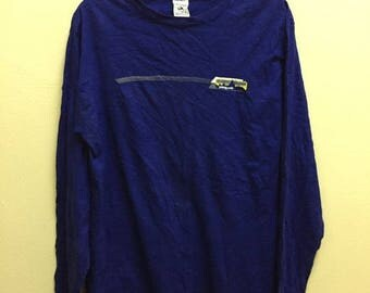 MEGA SALE 20% Clearance Stock!!! Vintage Patagonia Longsleeve T-Shirt Blue Color Made In Usa Sz M