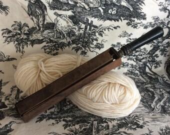 Antique primitive razor hone straight razor sharpener leather and wood