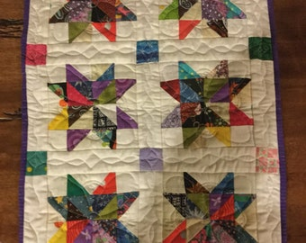 Scrappy Star doll quilt