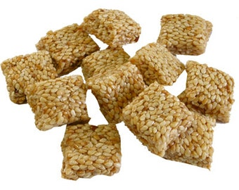 Sesame Bites Handmade, Organic Snack with Sesame and Raw Honey, Greek Pasteli, unique gift for sweetooth, sweet delicacy, Healthy Snack