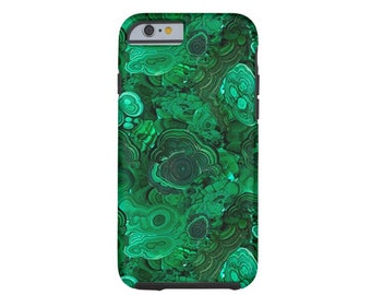 Malachite Print Case-Mate Tough iPhone 7, 7P or 6/6S, 6P Case/Cover, Faux Stone/Gemstone, Plus