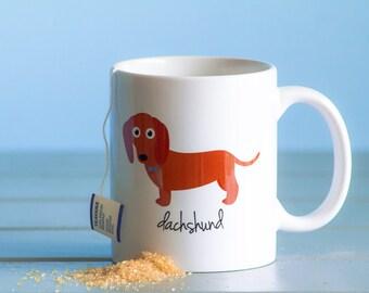 Dachshund Mug (red - boy)