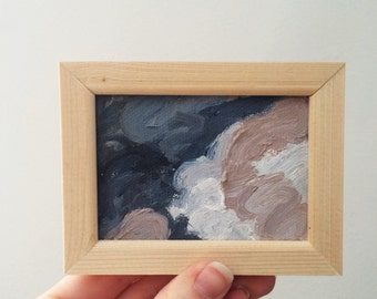 Framed Clouds Oil Painting