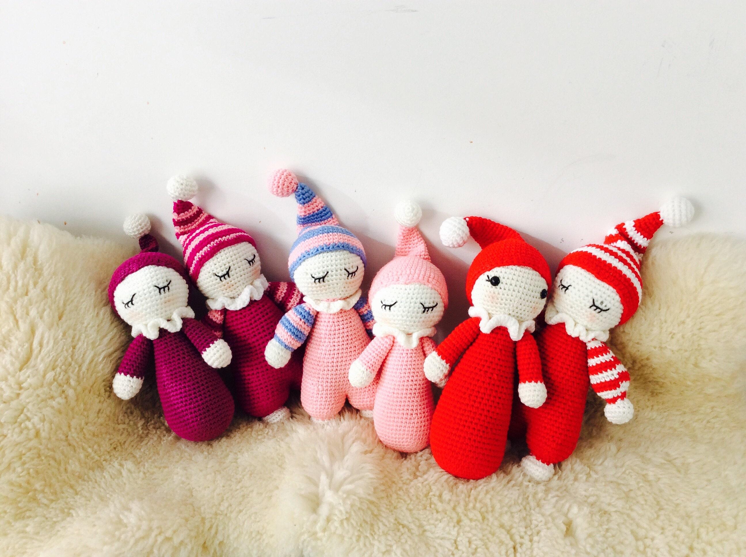 SALE 20%OFF: Cuddly Baby Crocheted Amigurumi Cuddly Doll