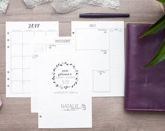 A5 DATED Planner Calendar Pages for Filofax, A5 Calendar Refill, Kikki K Planner Inserts, A5 Organizer, Filofax Planner Inserts, WO2P