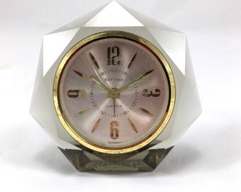 Beautiful Lucite alarm clock