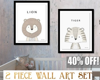 Nursery Safari Print, Safari Nursery Set, Safari Nursery Print, Safari Kids Decor, Nursery Decor Zoo, Zoo Nursery Art, Safari Digital Print