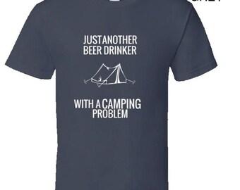 Funny camping t shirt,Camping Shirt, Camping Tshirt,Camping Gift,Camping Gear,Camping Life,bbq t shirt,campfire camping,Beer Drinker Camper