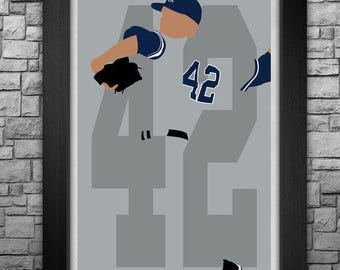 MARIANO RIVERA minimalism style limited edition art print. Choose from 3 sizes!