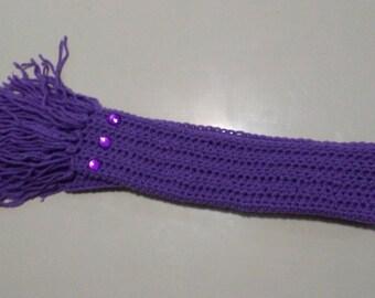 Purple Bedazzle Scarf