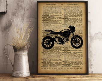 Boy room decor Motorcycle wall art Gift for Man Gift for boyfriend Motorcycle printables Motorcycle gifts for boyfriend Birthday gift  (M06)