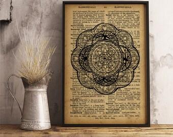 Mandala Prints Sacred Geometry Art Mandala Art, Meditation wall art, Mandala poster (MA23)