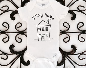 Going home onesie, hospital onesie, bringing baby home onesie, hospital outfit, baby clothing