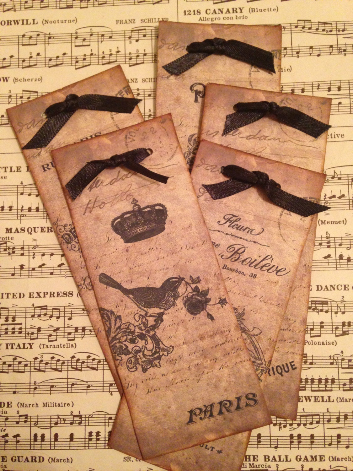 French Style Book Marks Paris Bookmarks Vintage Style Book