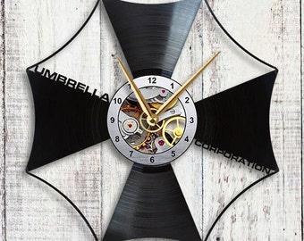 Resident Evil Umbrella Corporation Vinyl LP Record Wall Clock Gift Idea