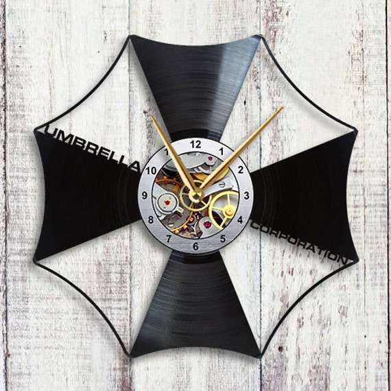Resident Evil Umbrella Corporation Vinyl Lp Record Wall Clock