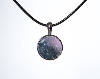 Nebula Carina Choker necklace Choker pendant Space gift Galaxy choker Leather choker Black cord Space choker Nebula choker Choker jewelry
