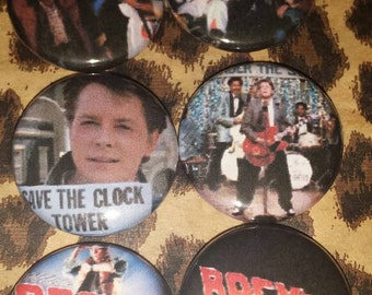 Back to the Future  Button Set of 6