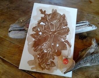 Carte postale grand format arbre