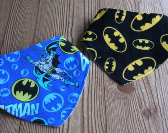 Batman Baby Bib Bandana Superhero Baby Batman Logo Black Yellow Blue Batman Bandana Batman Bib Baby Shower Gift Nursery Accessory