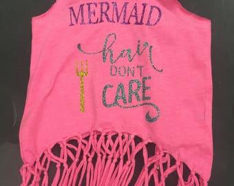 Fringe Mermaid Hair Don't Care Tank