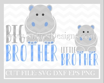 Big Brother Little Brother SVG, DXF, PNG Files for Cricut and Silhouette cutting machines Brother svg, Boy svg, Big brother svg, Kids svg,