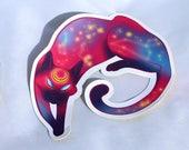 Space Kitty // Matte vinyl sticker