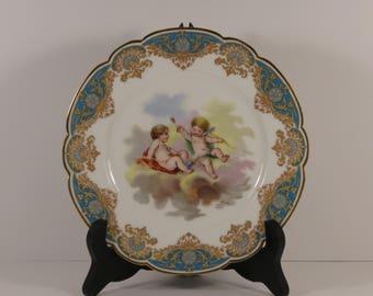 Sevres Chateau De Versailles Cherubic Cabinet Plate.