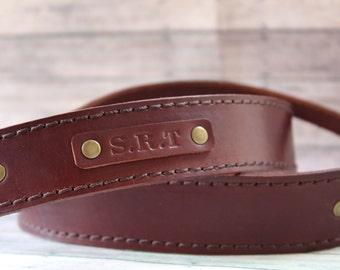 Leather camera strap, custom camera strap, father's day gift, camera strap leather, graduation gift, custom leather strap black camera strap