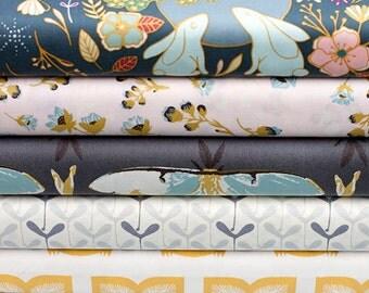 Heartland Fabric Bundle, Nightfall Fabric Bundle, Art Gallery Fabric Bundle, Fat Quarter Bundle, Half of a Metre Fabric, Quilting Fabric