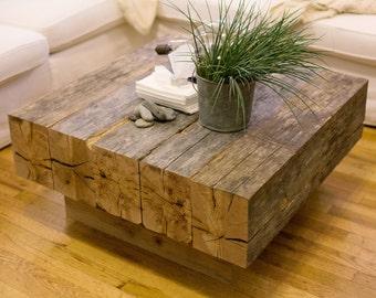 Reclaimed Lumber Beam Coffee Table