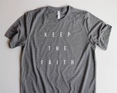 Christian T Shirts for Women, Christian T Shirts for Men, Christian Shirts, Bible Shirts for Women Christian Keep The Faith Shirts Jesus