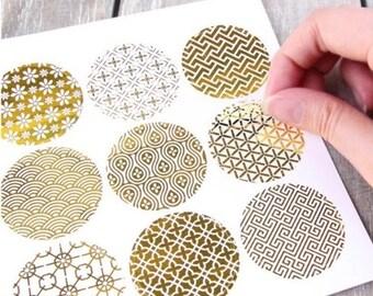 Round golden Stickers