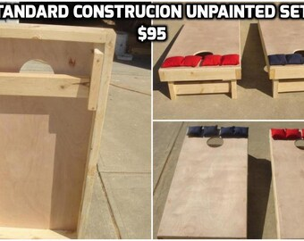 Standard Construction, sturdy regulation sized Corn Hole Boards